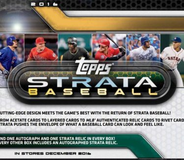 2016 Topps Strata Baseball