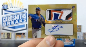 2013 Topps Finest - Jurickson Profar - Auto Patch Gold Parallel 28/50