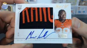 2013 Panini National Treasures - Marcus Lattimore - Hats Off Auto - 3/4