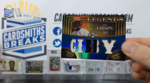 2013 Topps Triple Threads - Bob Gibson - Legends Relic Sapphire Parallel 1/3