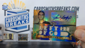 2013 Topps Triple Threads - Sandy Koufax - Auto Triple Bat Relic Sapphire Parallel 2/3