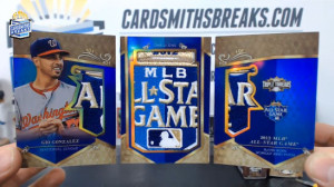 2013 Topps Triple Threads - Gio Gonzalez - All-Star Patches Trifold Booklet 1/1