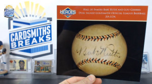 2014 Heroes of Sport Pre-War - Babe Ruth & Lou Gehrig Dual Signed Baseball