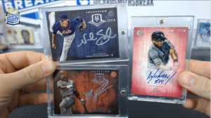 2014 Bowman Inception - Jose Abreu - Pink Auto, Noah Syndergaard - Silver Signatures, Maikel Franco - Silver Signatures