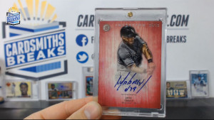 2014 Bowman Inception - Jose Abreu - Pink Auto 5/50