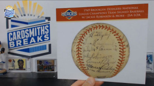 2014 Heroes of Sport G.O.A.T - 1949 Dodgers Team Signed Baseball