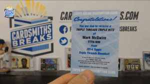 2014 Topps Triple Threads - Mark McGwire - Triple Threads Triple Hits Redemption